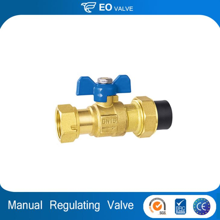 Butterfly Type Handle Manual Regulating Brass Ball Valve