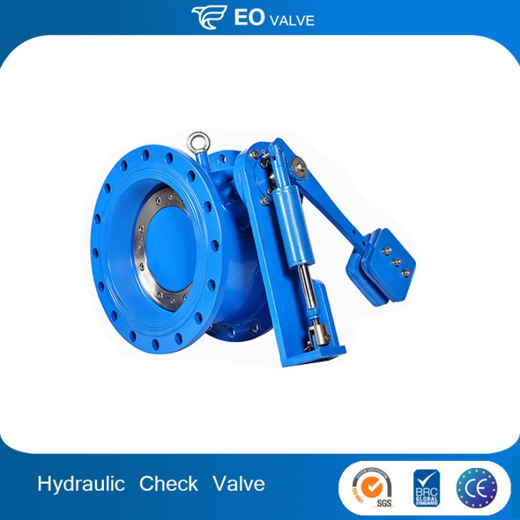 DIN 3202 Flange Type Non Slam Check Valve With Hydraulic Damper