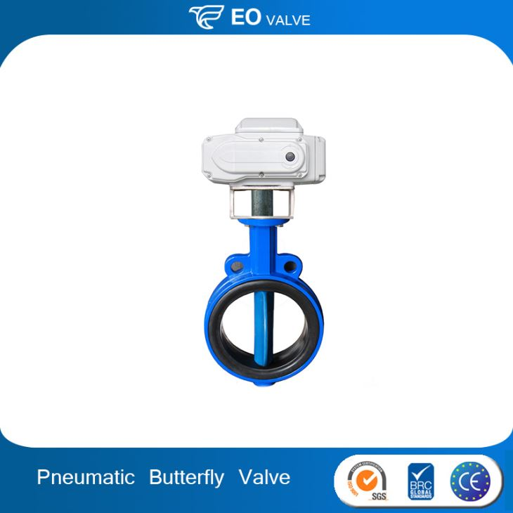 EPDM Seat Pneumatic Actuated Butterfly Valve