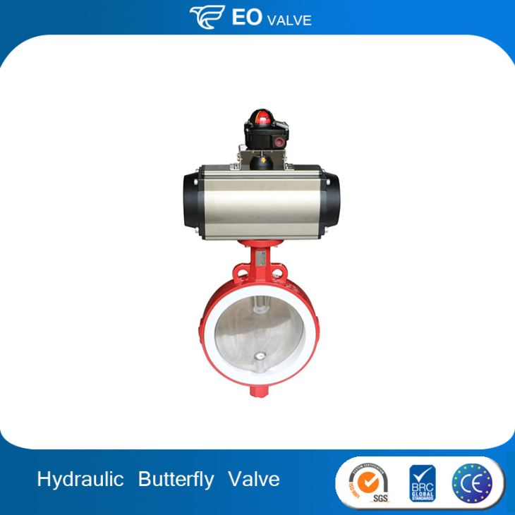 Food Grade Pneumatic Actuator Split Body Wafer Type Butterfly Valve