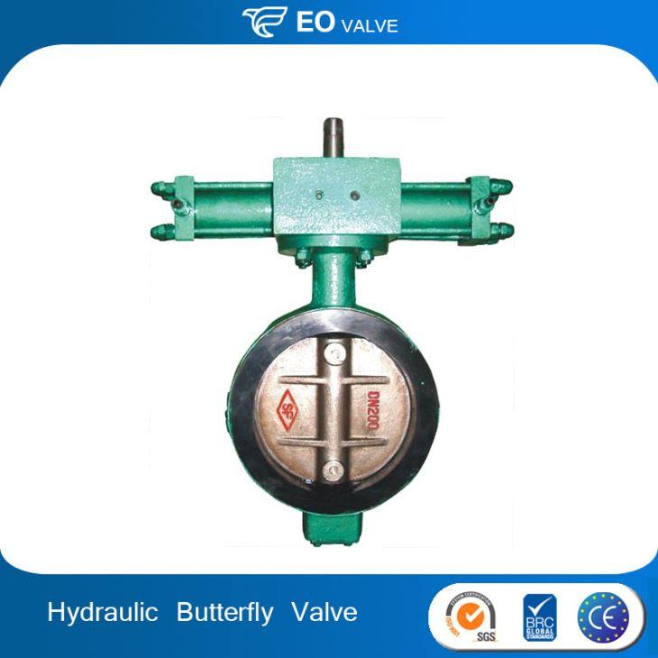 Hydraulic Actuator Wafer Flange Midline Butterfly Valve