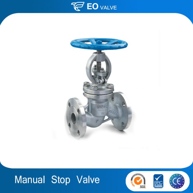 Manual Flanged Water Stainless Steel Stop Valve With Hand Wheel