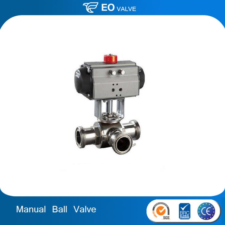 Sanitary Stainless Steel Sanitary Manual 3-piece Sanitary Ball Valves