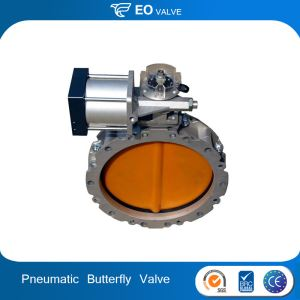 Pneumatic Butterfly Valve With Pneumatic Actuator For Machinery